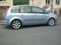 2007 ford c max 1.6 cc,18 inch alloys,105k, mot june 18,-£1150