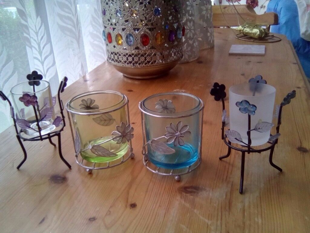 A lovely set of 4 candle Holders