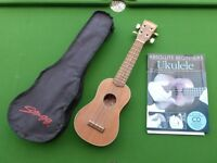 Ukelele with case and instructions