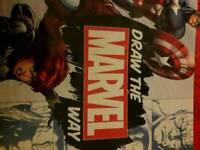 Folder with 6 marvel drawing magazines