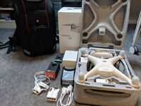 DJI Phantom 4 Advanced Plus - + Spare Battery, Manfrotto D1 Case, Filter, Gimbal cover & More Extras