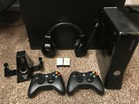 Xbox 360 elite Kinect, 250gb, headset, games, more