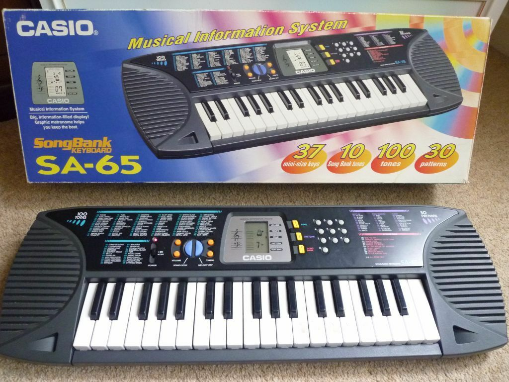 casio sa 65 songbank keyboard 100 tones electronic in bromley london gumtree. Black Bedroom Furniture Sets. Home Design Ideas