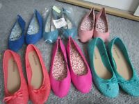 Women's Shoes (Several Pairs of Pumps) Size 7 (EU 40)