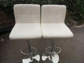 Two cream bar stools for £10