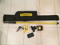 Stanley cross line laser level. Self levelling. As new. £125.