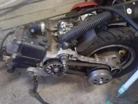 50cc chinese scooter pulse scout complete engine,wheels & tyres