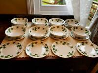 Colcough vintage china soup bowls and side plates
