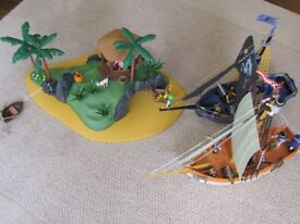Playmobil 3740 3799 3860 - classic boxed Desert Island, Pirate Ship & Schooner