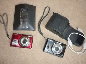 NIKON DIGItal camera Coolpix 1.22. And Sony DSC-W17