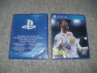 NEW SEALED PS4 FIFA 18 + PlayStation Plus 14 Day Trial Ultimate Team Rare Player