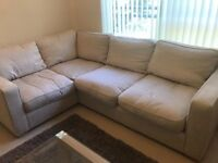 1yr old Harverys corner sofa colour cream.