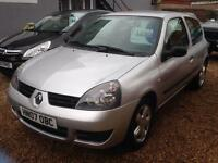 RENAULT CLIO 1.1 CAMPUS 8V 3d 58 BHP SILVER 82000 2007 LOTS OF SERICE HISTORY AND BILLS