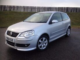 2008 VOLKSWAGEN POLO MATCH 1.2 6V 60PS - 57K MILES - F.S.H - EXCELLENT VALUE - 3 MONTHS WARRANTY