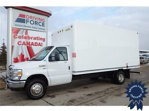 2016 Ford E-450 16 ft Cube Van Rear Wheel Drive - 49,609 KMs