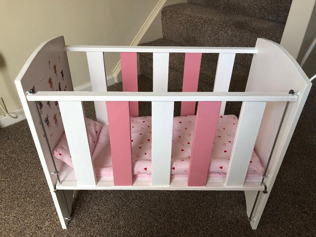 Hand made dolls cot