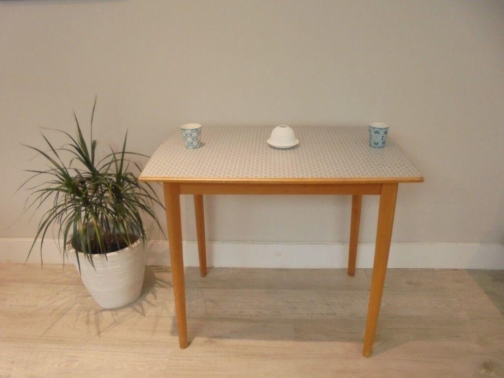 Soldretro mid century formica kitchen table 1950s 1960s camden