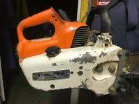 Stihl 08s chainsaw in husqvarna chainsaw bag