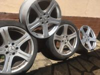 Set of four 18 inch allloy wheel for Merced's cls