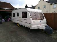 2001 Bailey Pageant fixed bed caravan (Lightest fixed bed we found)