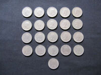 Silver Sixpence Set - (1947 to 1967) - 21 Coins (Including Rare 1952 Coin)