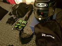 Motorbike gear (excellent condition with receipts)
