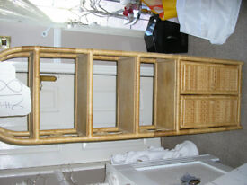 WHICKER/CANE SHELVED/DISPLAY CABINET