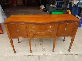 Mahogany Diningroom Sideboard - Strong Quality Furniture - Potential for Shabby Chich Project