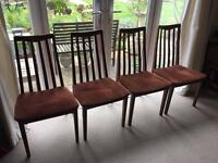 Four Vintage G Plan Dining Chairs