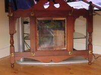 Antique coat rack with mirror