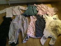 Baby girl 3-6 bundle over 20items, dresses, romper suits, cardigan, tights,