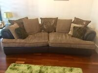 DFS brown sofa immaculate