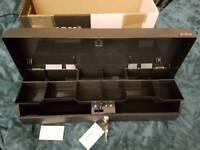 Torex TC4615 locking black cash box with keys and batteries NEW