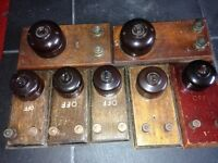 Antique light switches