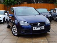2007 VW GOLF 2.0 GT SPORT 140 5DR ***2 OWNERS, FVWSH, 2 KEYS*** ***** 170 gtd 1.9 1.6 leon a3 dsg fr
