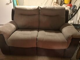 Electric recliner two seater sofa