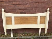 Pine and Lattice Head Board, Distressed. For a Double Bed £15ovno