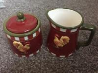 Matching Milk Jug & Sugar Bowl.