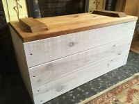 Fantastic wooden blanket box chest storage toy ottoman