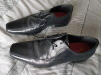 mens taylor wright black shoes size 7 matalan