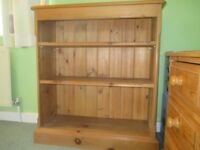 Pine bookcase, two moveable shelves £45 no offers