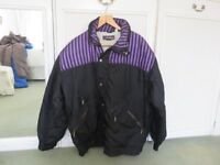 Mans NEVICA ski jkt size 42 M in very good condition. Black with purple stripe detail