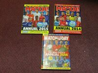 Match Annuals 2014 and 2015 + Match of the Day Annual 2014