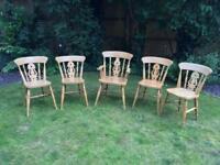 5 Farmhouse style chairs