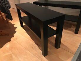 Black Tables x2
