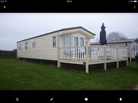 Static caravan, new decking and patio, Gower, beautiful