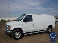 2013 Ford E250 Cargo Van - 14,339 KMs - Bucket Seats, 4.6L V8
