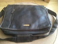 Brown Leather Messenger/Laptop Bag