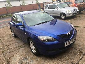 2007 MAZDA 3 1.6 AUTOMATIC BLUE 5 DOOR HPI CLEAR LONG MOT