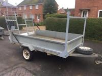 """Factory Built 8ft 2"""" x 4ft 11"""" trailer + ramps/spare wheel"""
